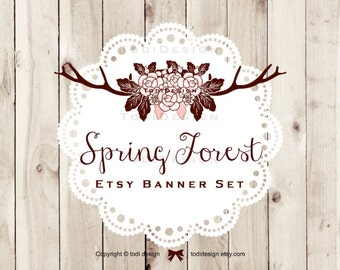 Spring Forest - Shabby Chic Premade shop set