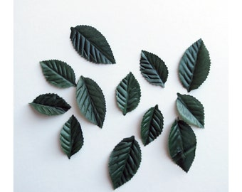 Leaves Green Leaf 200 Pieces Scrapbook Millinery