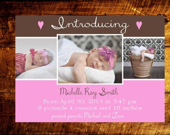 baby girl birth announcements, baby boy birth announcements, birth announcements, baby announcements, baby girl announcements