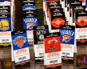 NBA BASKETBALL themed Bar Mitzvah Bat Mitzvah or other party tented ticket place cards seating DEPOSIT
