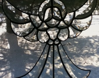 Stained Glass Beveled Angel of Grace Sun Catcher