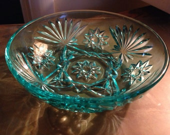 Turquoise glass bowl  1950s