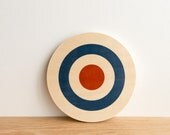 Target Circle Art Block - White/Blue/Red - center ice, archery target, bull's eye, colorway #14