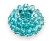 10 Light BLUE AB Berry Beads 15mm Chunky Beads Lucite Vintage Style H104
