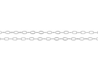 Sterling Silver 2 x 1mm Elongated Flat Cable Chain - 100ft Wholesale Price (2343-100)/1