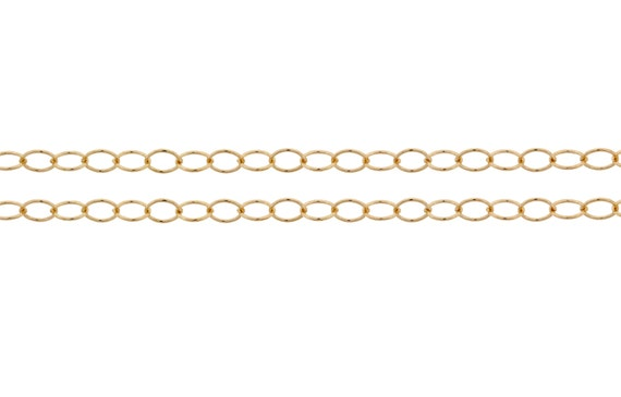 14Kt Gold Filled 2.8x2mm Round wire Cable Chain - 20ft (2830-20)
