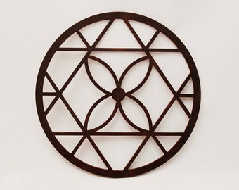 Medieval Flower - Dark Brown Wood Home Decor