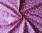 Japanese Fabric Cotton Yuwa - Suzuko Koseki - Square Dot Purple - a yard