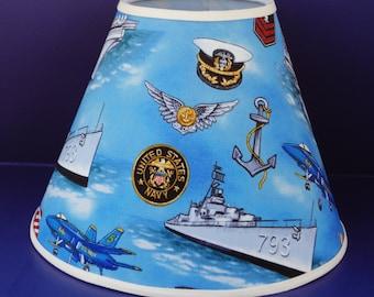 United States Navy Lamp Shade Military Patriotic Americana