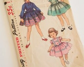 Vintage 1950s Girls Dress Pattern // Size 4