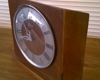 Vintage Scottish Westclox wooden wood sideboard dresser clock circa 1950's / English Shop