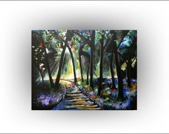 Large Tree painting-forest-trees-woods-  30 x 40- Skye Taylor