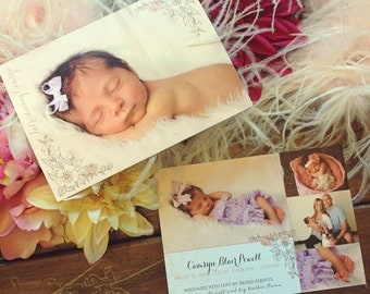 Baby Announcement or Birth Announcement, Lot of 25