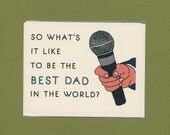 BEST DAD EVER - What's It Like - Funny Father's Day Card - Funny Thank You Dad - Funny Card For Dad  - Funny Thanks Dad - Card for Dad