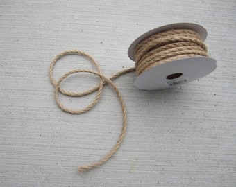 Jute Cord with wire - 4mm - 25 feet