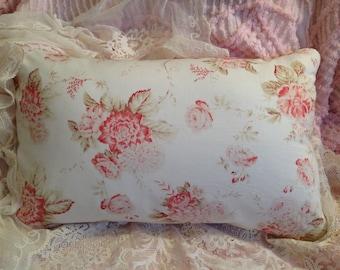 SHABBY garden PILLOW COVER Romantic Rose floral