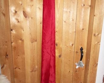 Red satin sash to wear with kimono or tunics.