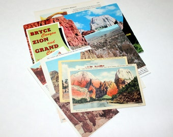 Bryce Canyon and Zion National Park, Utah - United States Vintage Travel Collage Kit