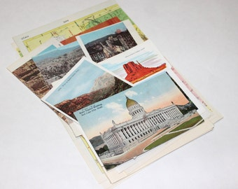 Utah - United States Vintage Travel Collage Kit