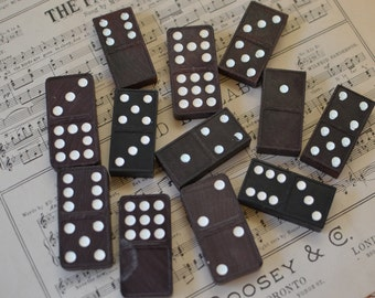 Vintage Assorted Dominos Domino Game Pieces Lot of 12
