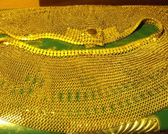 RARE Antique delicate mesh collar necklace chainmaille collar necklace  Gilded Mesh necklace