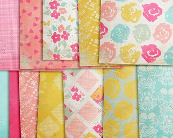 Digital Papers - Bloomin in Spring. Perfect for blog background, scrapbooking, card making and much more.