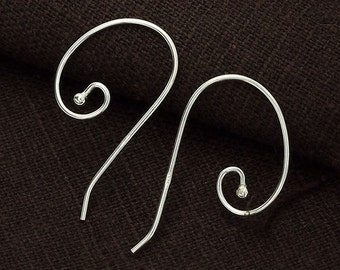 5 pairs of 925 Sterling Silver Ear Wires 14x28 mm. :th2274
