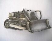 Vintage Bulldozer Tractor Belt Buckle By Bergamot Brass Works 1978