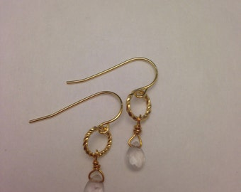 Clear Quartz Vermeil Earrings
