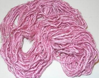 Recycled ART Sari Silk Yarn Multicolored Himalayan Baby Pink