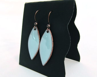 Baby Blue Pointed Oval Earrings
