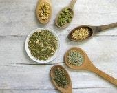 Sing Your Song Organic Herbal Tea • Peppermint, Ginger, Lemongrass, Cardamom & Licorice • Loose Leaf Tea