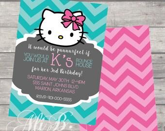 Kitty Birthday Invitation Printable