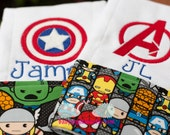 Avengers Burp cloth set - Personalized