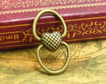 20 pcs Antique Bronze Bracelet Links Connector Charms 24x13mm CH1974