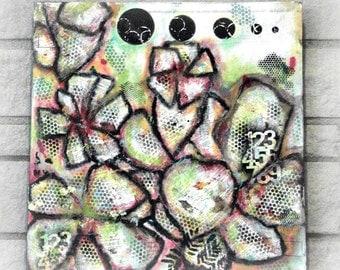 Dictionary Art, Mixed Media Painting, Abstract Collage, Italian Dictionary, Original Acrylic, Abstract Canvas Art, Modern Art, Abstract Art