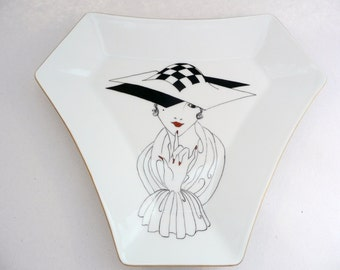 Limoges plate, hand painted plate, porcelain plate