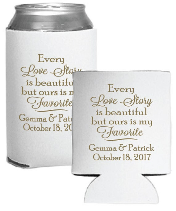 Custom Wedding Favors Beer Can Huggers Personalized Every