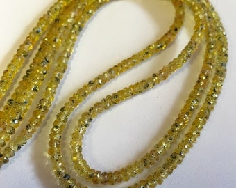 Yellow Sapphire Faceted Rondelles-3mm
