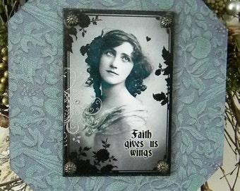Faith Gives Us Wings Decorative Decoupage Plaque