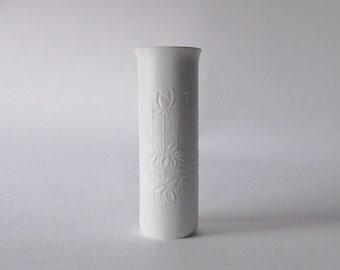 White Bisque Porcelain Vase- Alboth & Kaiser 70s