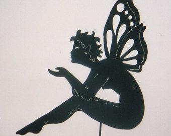 "Sitting Fairy ""The Kiss"" Yard Art by Rustiques Garden Art"