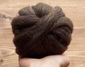 Licorice Snap Wool Roving for Needle Felting, Wet Felting, Spinning, Dyed Felting Wool, Rainbow, Black, Fiber Art Supplies