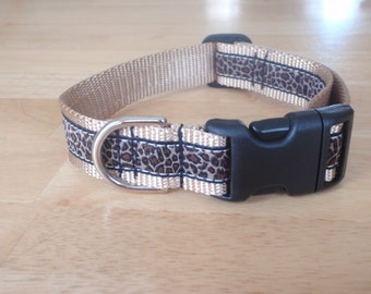 Leopard Print Dog Collar