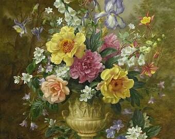 Bouquet of Summer Flowers - Cross stitch pattern pdf format