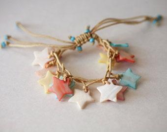Stars Adjustable Abalone Shell Bracelet from Hawaii