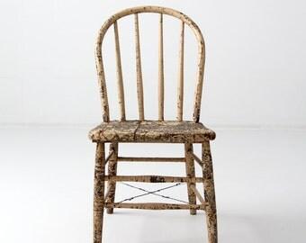 Antique Primitive Spindle Back Chair