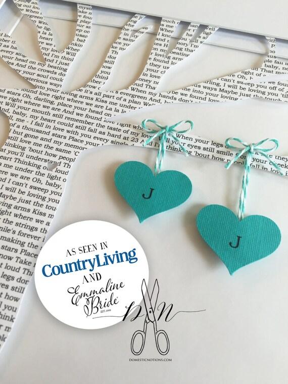 Personalized Wedding Gift, Wedding Song Lyrics, Wedding Tree, WEDDING VOW Keepsake, Anniversary Gift, Paper Anniversary Gift