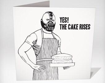 illustrated Bane Birthday Card