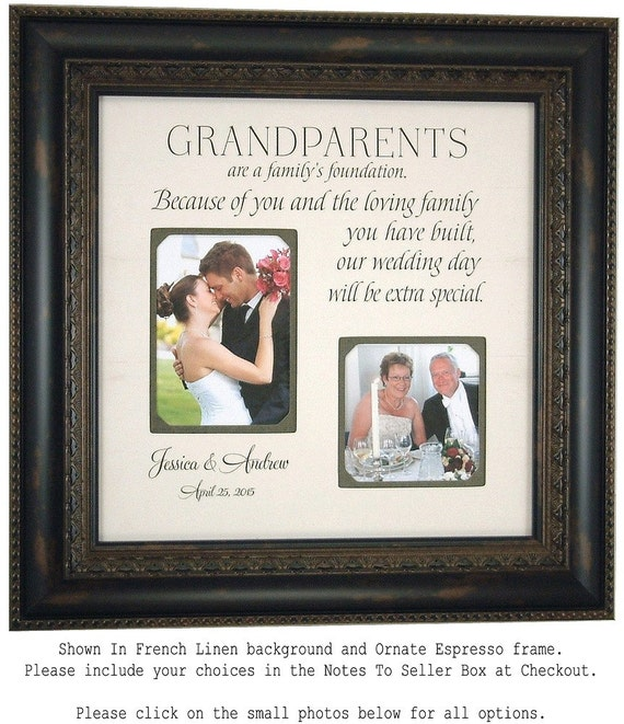 Grandparents Thank You, Wedding Thank You Gift for Grandparents ...